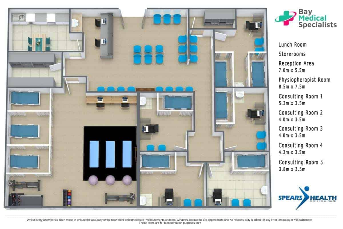 Consulting Rooms for Specialists and Allied Health Professionals - Capalaba 3D-Floor-Plan