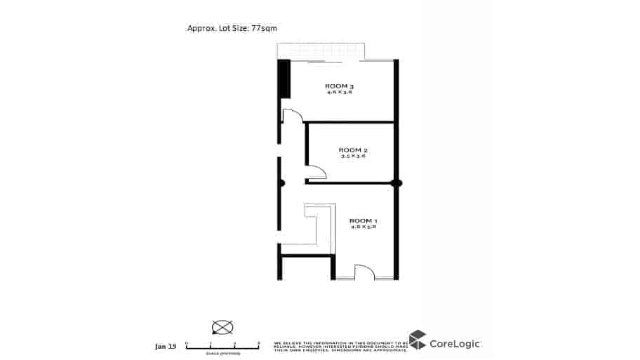 Floorplan at Well Presented Medical Clinic for Lease - Crows Nest